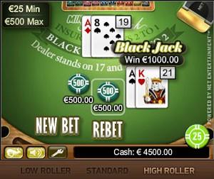NetEnt Mini Blackjack