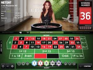 NetEnt Live Roulette HD